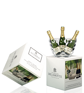 "Gift box  - Blanc de Blancs  ice bucket ""bubbles"""