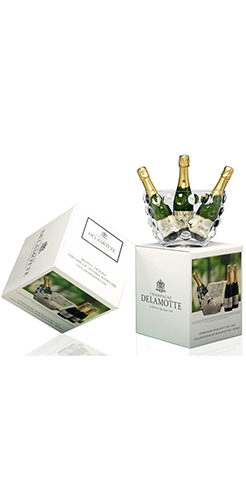 "Gift box  - Blanc de Blancs  ice bucket ""bubbles"""